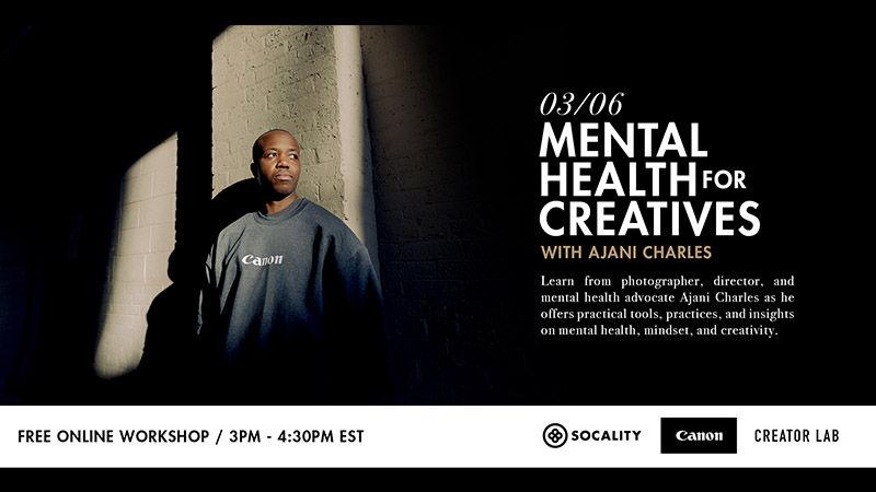 Mental Health for Creatives with Ajani Charles Webinar