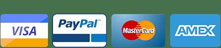 Visa, Paypal, Mastercard, American Express