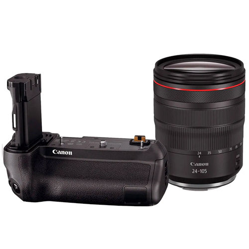 Canon RF 24-105mm f4 L IS USM Lens with Battery Grip BG-E22