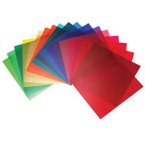 10 Colour Gels Set 21 cm