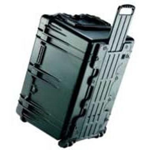 1660 Case Black w/Dividers w/Retractable Handle & Wheels