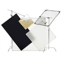 Pro Panel Kit 72x72, incl. bag Frame,B&Wcloth, 1/2 diff.cloth