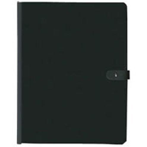 Pampa Spiral Book 12.5x9.5 black w/laser sheet protectors