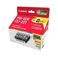 PGI-220/CLI-221 4 Colour Photo Value Pack