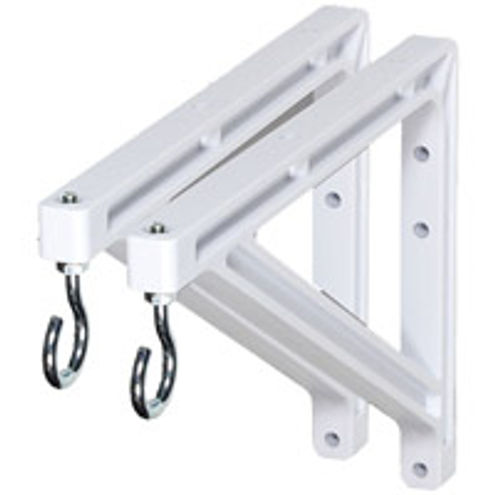 "227214 10""/14"" Non-Adjustable Brackets, White"