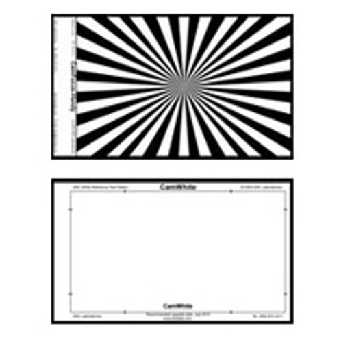 "CamFocus, 10""x6"" Handy Chart - White Balance/Focus Card, Pouch and Lanyard"