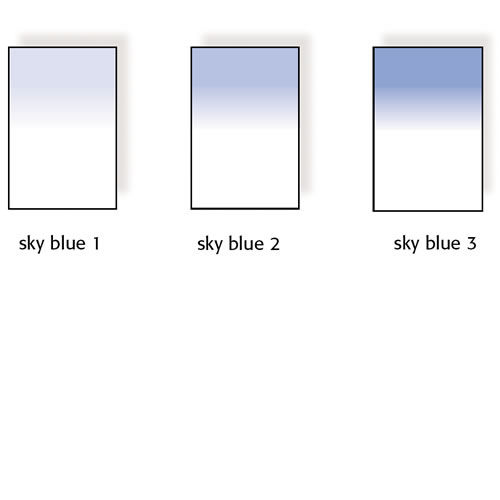 100x150mm Sky Blue Graduated Resin Drop In Filter Set Includes Sky Blue 1, Sky Blue 2, and Sky Blue