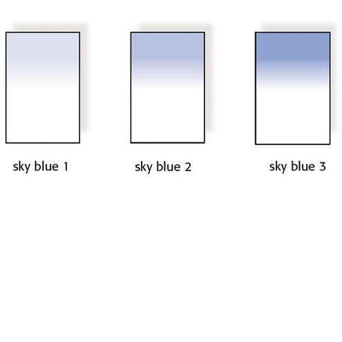 100x150mm Sky Blue Graduated Resin Drop In Filter Set Includes Sky Blue 1, Sky Blue 2, and Sky Blue