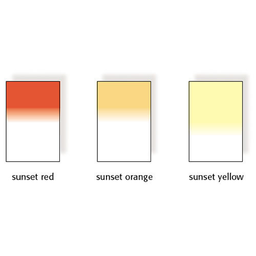 100x150mm Sunset Graduated Resin Drop In Filters Set Includes Sunset Red, Sunset, Orange, and Sunse