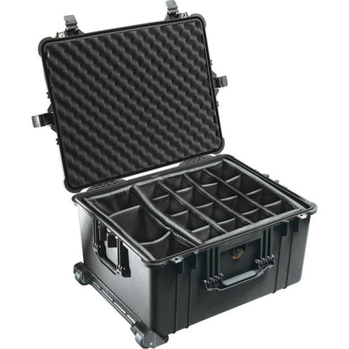 1620 Case Black w/Divider Set w/Retractable Handle & Wheels
