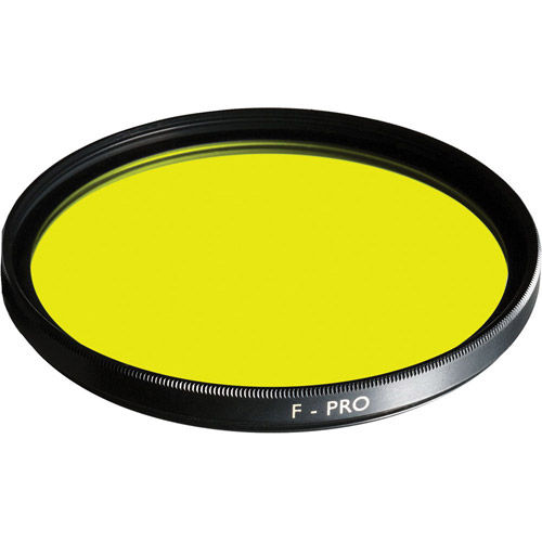 49mm Medium Yellow 022 Multi-Coated Glass Screw In Filter for Black and White Film
