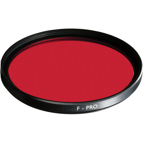49mm Light Red 090 Multi-Coated Glass Screw In Filter for Black and White Film