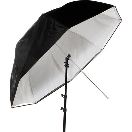 "1.25m (48"") Dual Duty Umbrella Black/Silver/White (4923)"