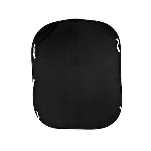 5'x6' Plain Collapsible Reversible Background Black/White