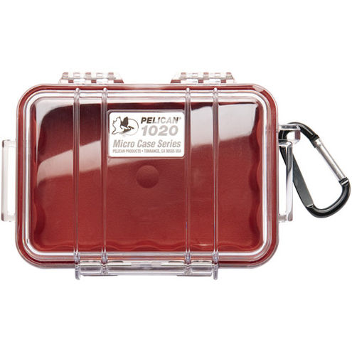1020 Micro Case Red/Clear