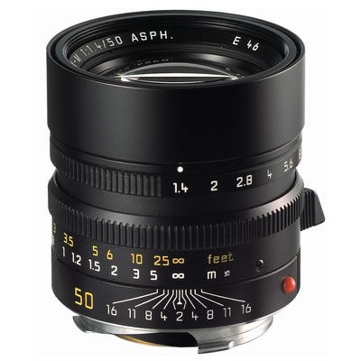 50mm f/1.4 ASPH Summilux-M Black Lens (E46)