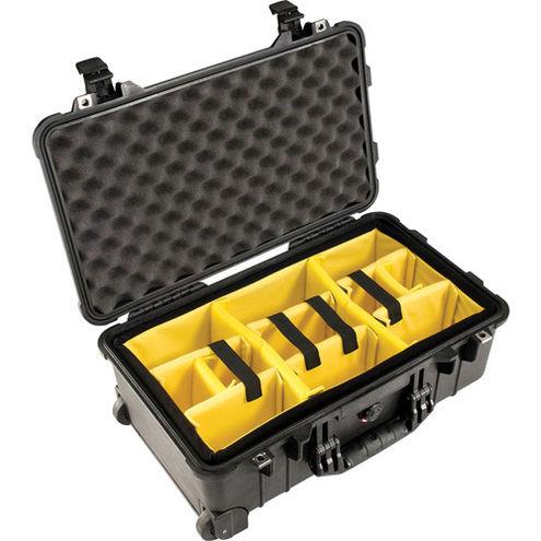 1510 Case Black w/Dividers w/Retractable Handle & Wheels