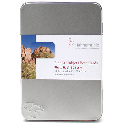 "4""x""6 Photo Rag 308gsm Cards - 30 Sheets"