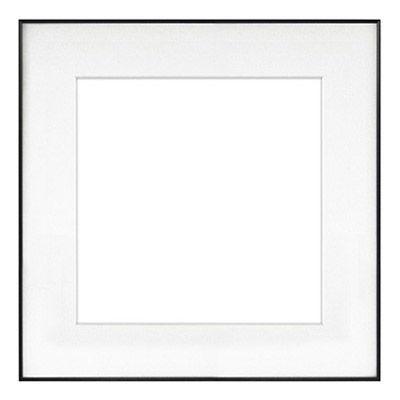 "11"" x 11"" Fineline Black Aluminum Frame with 8"" x 8"" Single Mat Opening # 20"