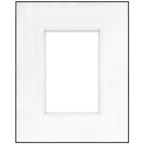 """16"""" x 20"""" Fineline Black Aluminum Frame with 8"""" x 12"""" Shadow Mat Opening # 53"""