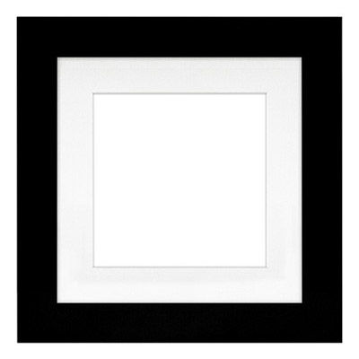 "11"" x 11"" Metro Black Seamless Frame with 8"" x 8"" Single Mat Opening # 20"