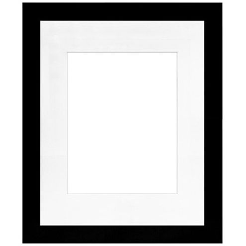 "16"" x 20"" Metro Black Seamless Frame with 11"" x 14"" Single Mat Opening # 51"