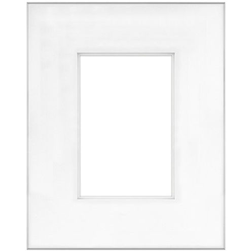 """16"""" x 20"""" Fineline Silver Aluminum Frame with 8"""" x 12"""" Shadow Mat Opening # 53"""