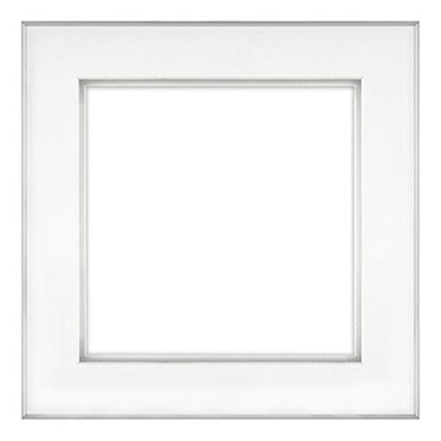 """11"""" x 11"""" Fineline Silver Aluminum Frame with 8"""" x 8"""" Shadow Mat Opening # 20"""