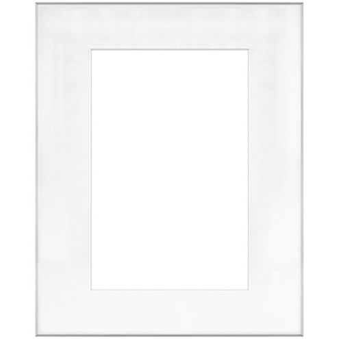 """16"""" x 20"""" Fineline Silver Aluminum Frame with 10"""" x 15"""" Single Mat Opening # 52"""