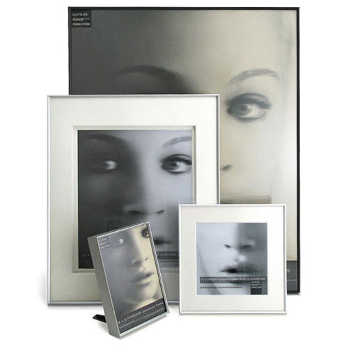 "8"" x 10"" Fineline Silver Aluminum Frame with no mat"