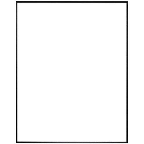 "11"" x 14"" Fineline Black Aluminum Frame with no mat"
