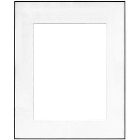 "16"" x 20"" Fineline Black Aluminum Frame with 11"" x 14"" Single Mat Opening # 51"