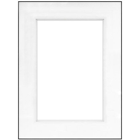 """18"""" x 24"""" Fineline Black Aluminum Frame with 12"""" x 18"""" Shadow Mat Opening # 62"""