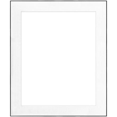 "20"" x 24"" Fineline Black Aluminum Frame with 16"" x 20"" Single Mat Opening # 67"