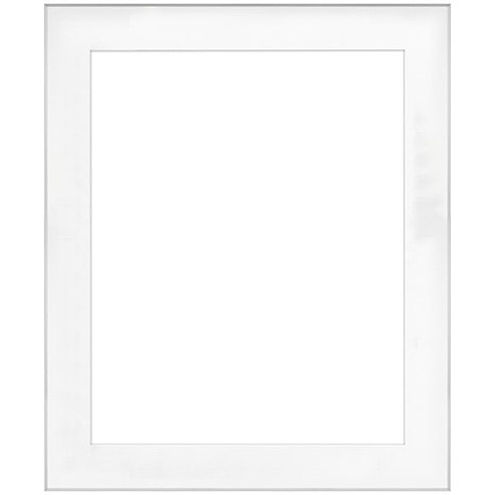 """20"""" x 24"""" Fineline Silver Aluminum Frame with 16"""" x 20"""" Single Mat Opening # 67"""