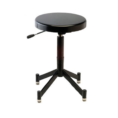 PG341B Pneumatic Posing Stool with Glides and 4 Leg Steel Base