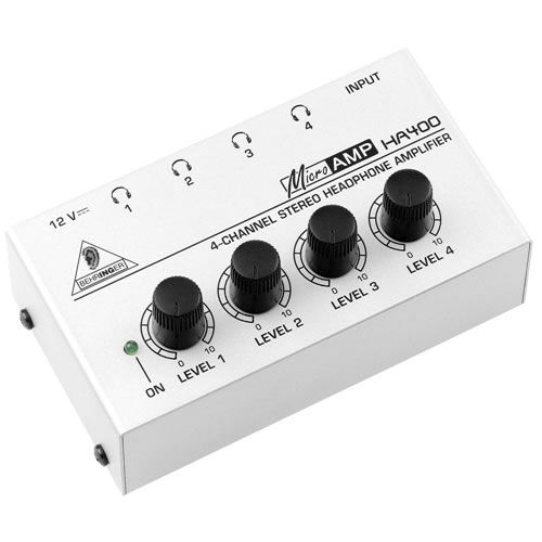 HA400 Microamp Ultra Compact 4 Channel Stereo Headphone Amplifier