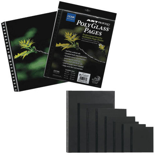 "8""x10"" PolyGlass Pages photo size, 10 pcs per pack"