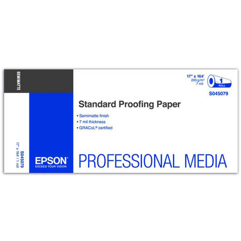 """17"""" x 164' Standard Proofing Paper Roll 205gsm"""