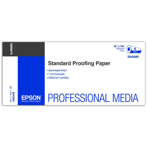 """36"""" x 164' Standard Proofing Paper Roll 205gsm"""