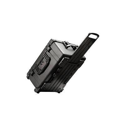 1610 Case Black no Foam w/Retractable Handle & Wheels