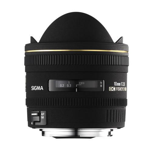 AF 10mm f/2.8 EX DC HSM Fisheye Lens for Canon