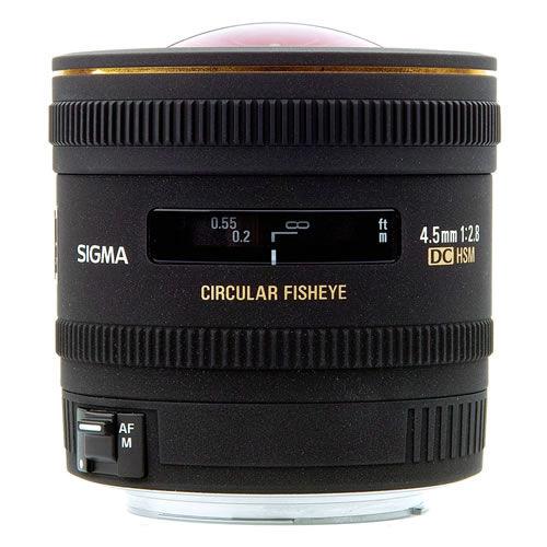 AF 4.5mm f/2.8 HSM EX DC Circ. Fisheye Lens for Nikon