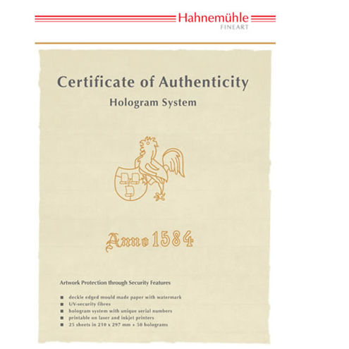 Authenticity Certificate 25 Pk A4 size