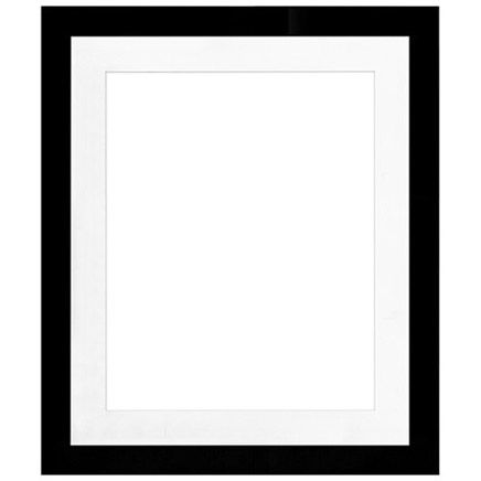 "20"" x 24"" Metro Black Seamless Frame with 16"" x 20"" Single Mat Opening # 67"