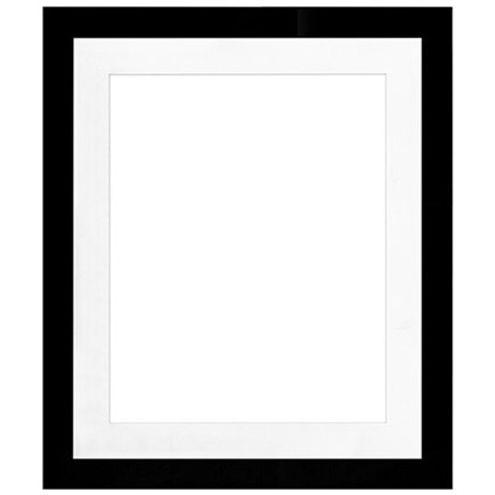 "20"" x 24"" Metro Black Seamless Frame with 16"" x 20"" Single Mat Opening # 67"