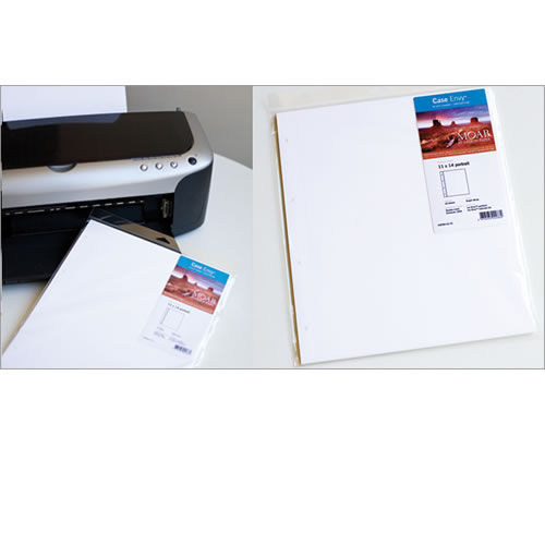 "8.5""x11"" P Lasal Photo Matte 10 per pack Drilled and Scored"