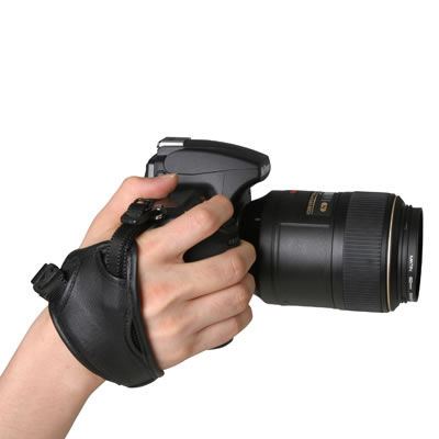 Leather Camera Grip-20 Black with Stand