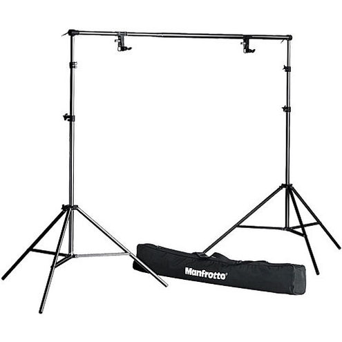 """1314B 9' Background Kit  """" N """" 2 Stands, 2 Clamps, Tele Bar, and Bag"""