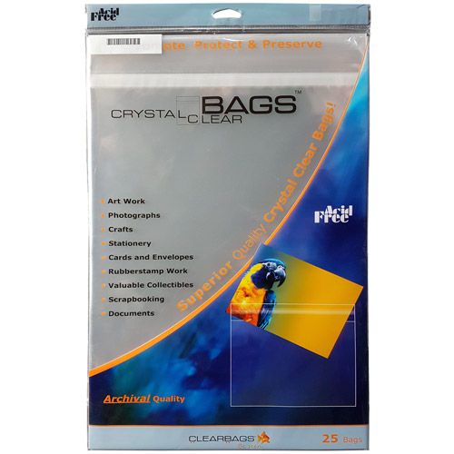 "8 15/16"" x 11 1/4"" Protective Closure Bag 25 Pack"